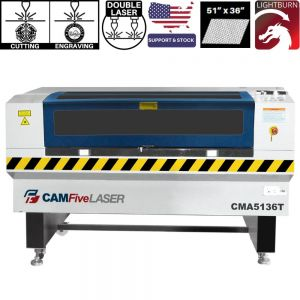 CAMFive Double CO2 Tube Laser Cutter & Engraver