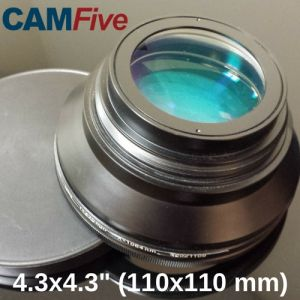 CAMFive Laser Lens 4.3'' x 4.3'' marking or engraving area for Fiber Optic Laser Markers and Engravers