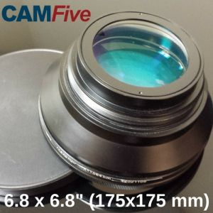 CAMFive Laser Lens 6.8'' x 6.8'' marking or engraving area for Fiber Optic Laser Markers and Engravers