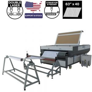 CAMFive Laser Automatic Conveyor Bed and Roll Feeder CO2 Cutter Model CMA6340TF Working Area 63x40'' Cutting Machine for Fabric, Leather and more