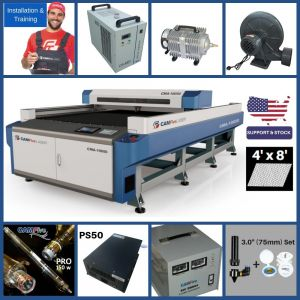 DEAL - CAMFive Laser Full Sheet Open Bed Industrial Design CO2 Cutter CMA10050 Working Area 100x50