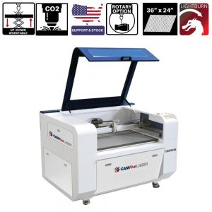 36 x 24 inches CAMFive Laser Up-Down CO2 Cutter & Engraver CMA3624K Cutting and Engraving Machine for Hobby, Small Business, and Home Use