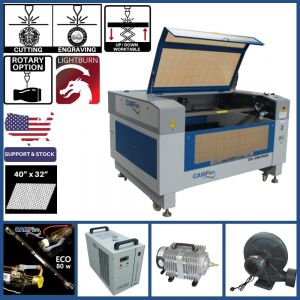 Basic Package - CAMFive Laser Up-Down System CO2 Cutter & Engraver CMA4032K Working Area 40x32'' Cutting and Engraving Machine for Wood Acrylic