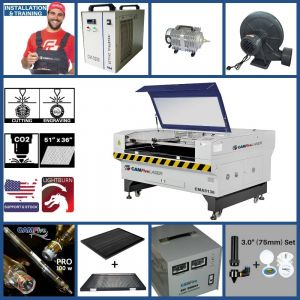 Full Package - 51x36 inches CAMFive Laser Co2 Tube Cutter Engraver CMA5136 Machine For Cutting And Engraving Wood Acrylic Fabric and More