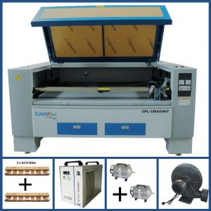 DEAL - CAMFive Laser CO2 Double Tube Cutter & Engraver CMA6348T Working Area 63x48'' Machine for Cutting and Engraving Wood, Acrylic, Fabric and more- Basic Package