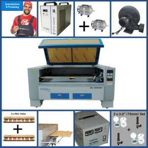 DEAL - CAMFive Laser CO2 Double Tube Cutter & Engraver CMA6348T Working Area 63x48'' Machine for Cutting and Engraving Wood, Acrylic, Fabric and more- Full Package