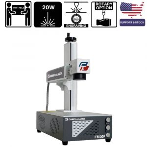 20W Source Portable CAMFive Laser Fiber Engraver Model FM20P, Engraving and Marking Machine for Hobby and Home Use