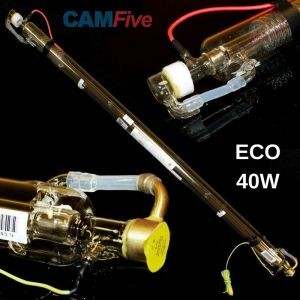 CAMFive Laser CO2 Glass Tube 40W Model ECO40 for laser cutter & engravers