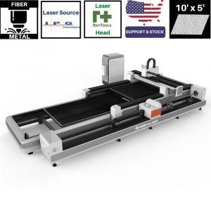 10 x 5 ft Pipe Cutter & Auto Sheet Exchange 1000w to 6000w IPG CAMFive Laser Fiber Metal Cutting Machine FLEX105P