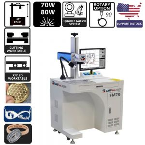 70W to 80W CAMFive Laser Fiber Engraver and Cutter FM70 Quartz based for Jewelry