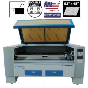 CAMFive Laser CO2 Double Tube Cutter & Engraver CMA6348T Working Area 63x48
