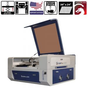 36 x 24 inches 70w to 100w Desktop Cutting and Engraving Machine CAMFive Laser Q3624K for Hobby and Home Use, Wood